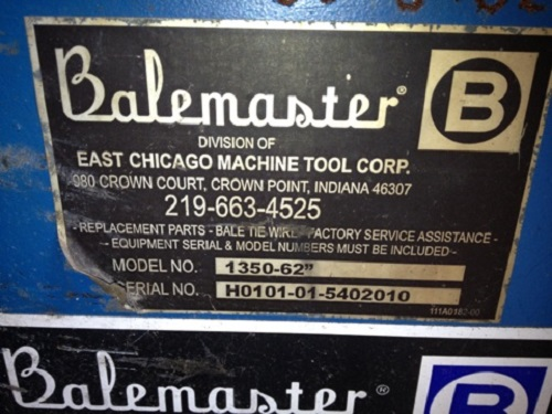 5387 12 Balemaster Shredder