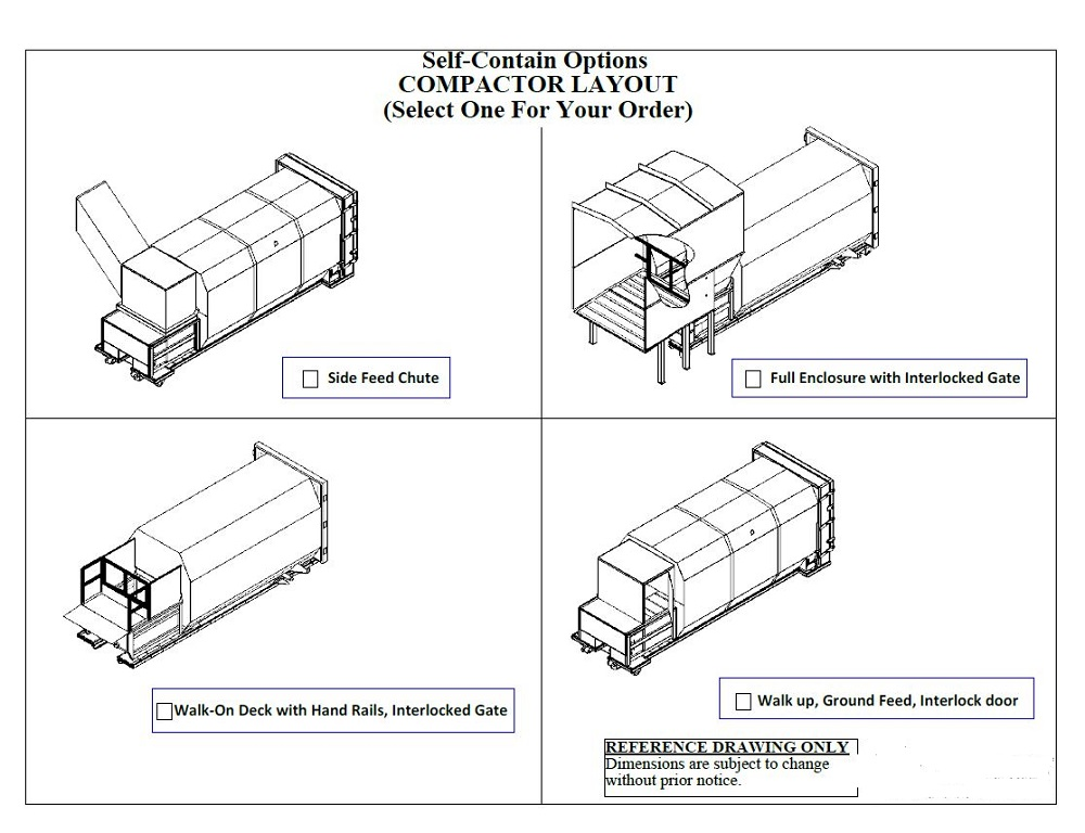 Self Contained Compactor Layouts