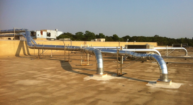 Rooftop New Ductwork Installation
