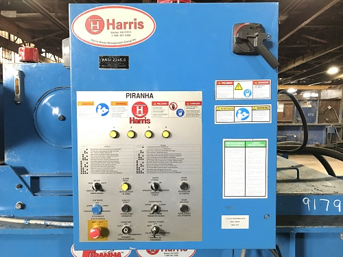 9179 2 Harris Piranha Horizontal Closed End Baler