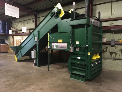 8650 1 BACE V63XHD Neverstop Vertical Baler And Conveyor