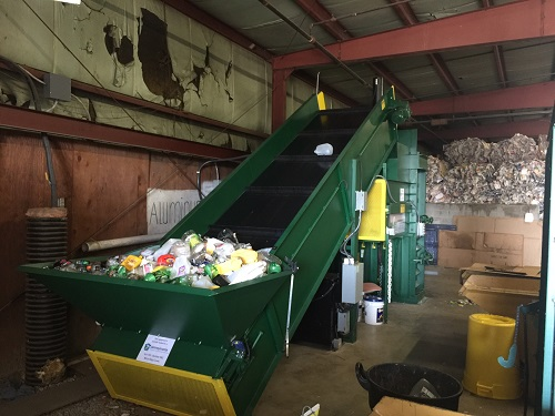 8650 3 BACE V63XHD Neverstop Vertical Baler And Conveyor
