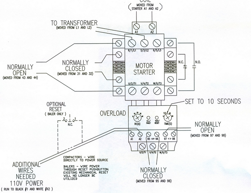 Wiring Diagram For Overload Relay : Contactor overload wiring diagram