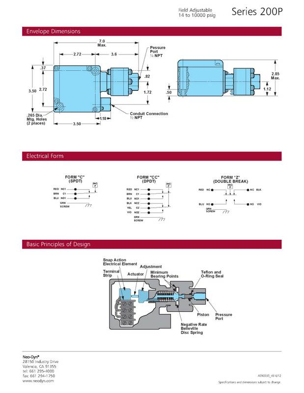 Barksdale Pressure Switch Wiring Diagram : Hydraulic pressure switch wiring diagram