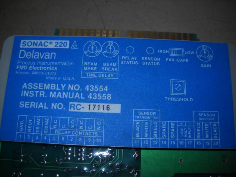 sonac 220 delavan part 43554 model card rh recyclingequipment com 220 Volt Single Phase Wiring Diagram 220 Volt 1 Phase Compressor Wiring Diagram