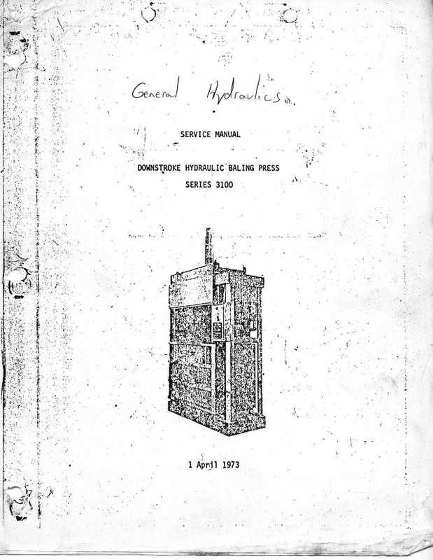 general hydraulics  baler  operations  manual